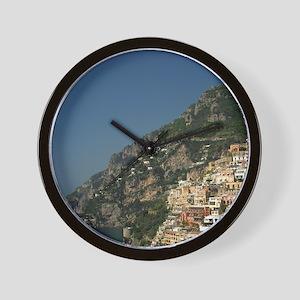 Positano. Colorful coastal overlook Sal Wall Clock