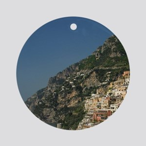 Positano. Colorful coastal overlook Round Ornament