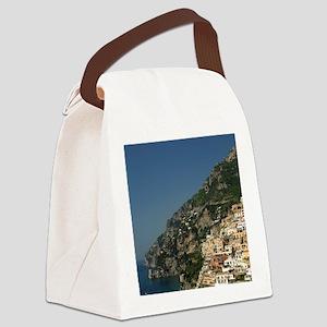 Positano. Colorful coastal overlo Canvas Lunch Bag