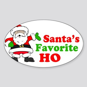 Hos Santa 2 Sticker (Oval)