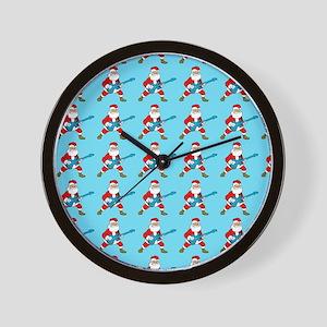 guitar santa Wall Clock