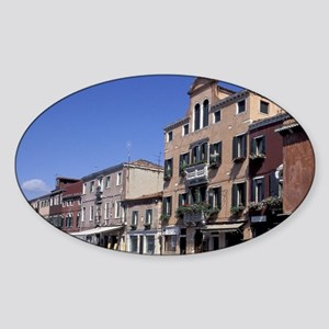 Europe, Italy, Venice, Canal view Sticker (Oval)