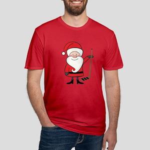 Hockey Sports Christmas Santa Men's Fitted T-Shirt