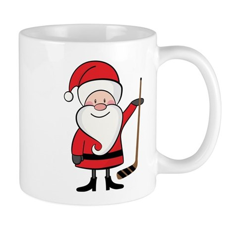 Hockey Sports Christmas Santa Mug