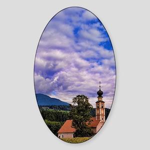 Beautiful church of St Lorenzo di S Sticker (Oval)