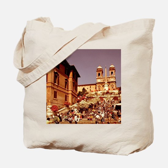 Famous fountain and meeting place at Span Tote Bag