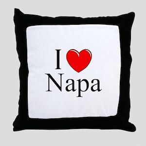 """I Love Napa"" Throw Pillow"