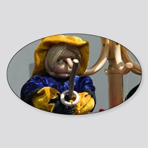 Szentendre: Puppets / Marionettes D Sticker (Oval)