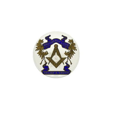Masonic Brotherly Love Mini Button