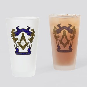 Masonic Brotherly Love Drinking Glass