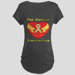 Beat Pet Cancer Maternity T-Shirt