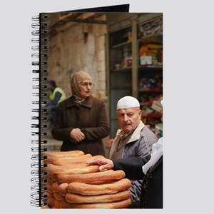 Israel, Jerusalem, street vendor with trad Journal