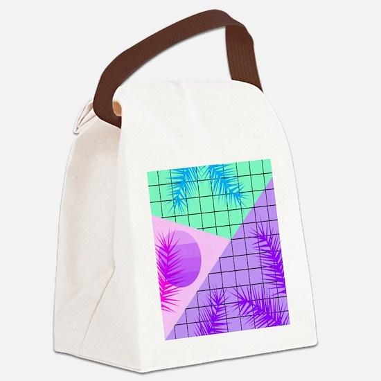 Cute Tropical shopping Canvas Lunch Bag