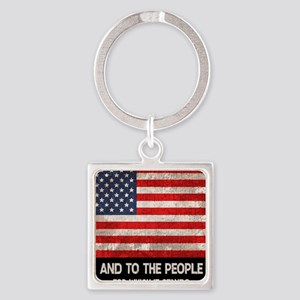 people-stands-CRD Square Keychain