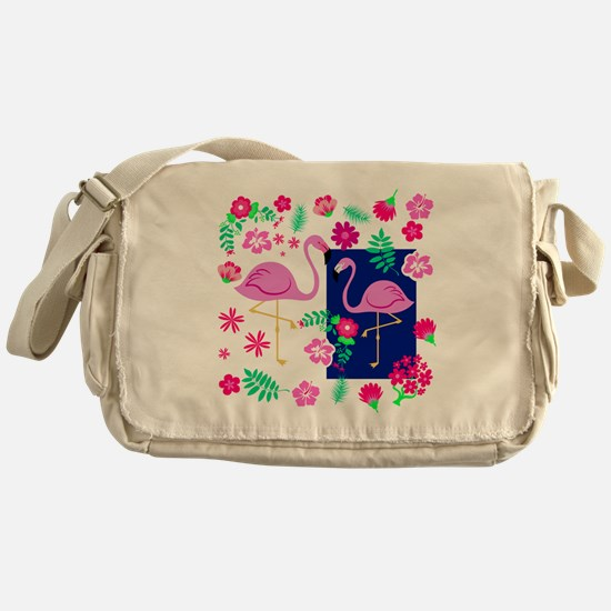 Funny Tropical shopping Messenger Bag