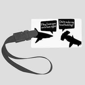 sharks Large Luggage Tag