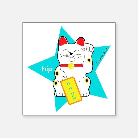 "hapaTeezManeki2 Square Sticker 3"" x 3"""