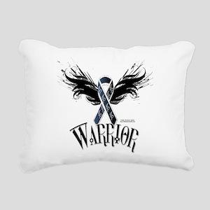 Melanoma Warrior Rectangular Canvas Pillow