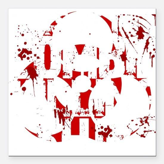 "zombieskillingZ Square Car Magnet 3"" x 3"""