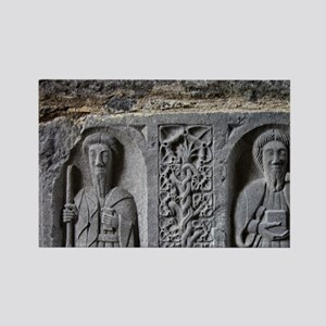Medieval stone carving of Saints  Rectangle Magnet