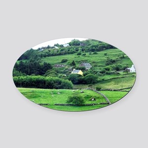 Europe, Ireland, Kerry County, Rin Oval Car Magnet