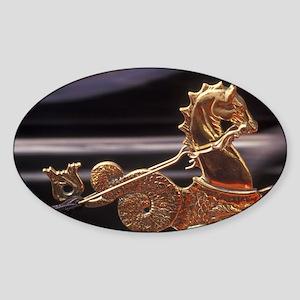 ITALY, Venice Boat Ornament; Gondol Sticker (Oval)