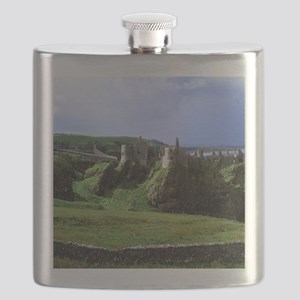 Dunluce Castle. Dunluce Castle rises from th Flask
