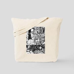 Unicorns in Faun Forest Tote Bag