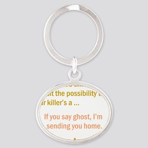 CASTLE apparition-american Oval Keychain
