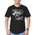 Bike Flip Men's Fitted T-Shirt (dark)