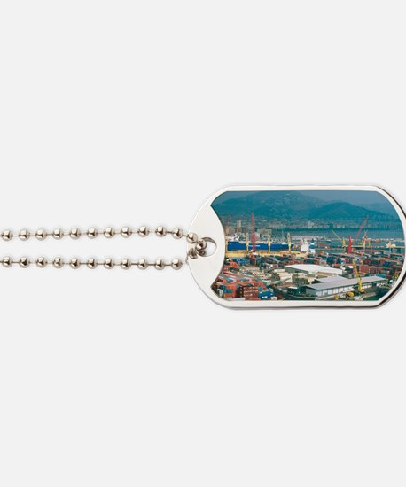 Salerno. Automobiles for export lined up  Dog Tags