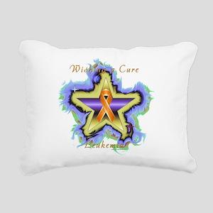 Leukemia Wish Star Rectangular Canvas Pillow