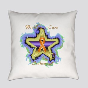 Leukemia Wish Star Everyday Pillow