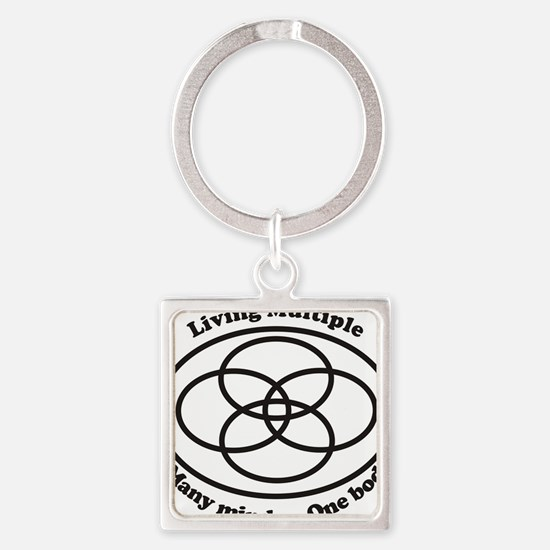 Living Multiple Square Keychain