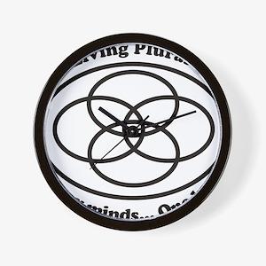 Living Plural Logo Wall Clock