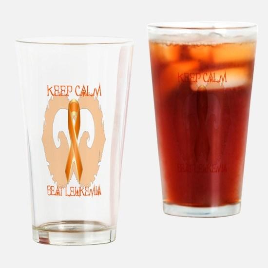 Leukemia Calm Drinking Glass