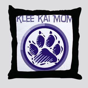 Klee Kai Mom Throw Pillow