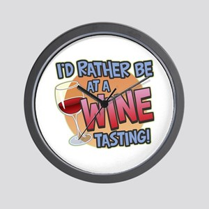 Rather Be Wine Tasting Wall Clock