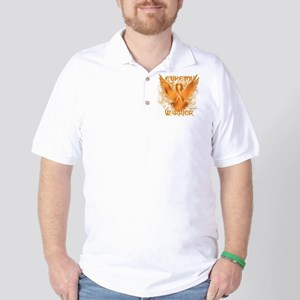 Leukemia Eagle Golf Shirt
