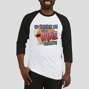 Rather Be Wine Tasting Baseball Jersey