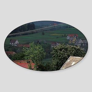EUROPE, Poland, Carpathian Mts. Sticker (Oval)
