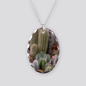 A colorful variety of cactus a Necklace Oval Charm