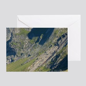 Lofoten. The town of Rostad below th Greeting Card