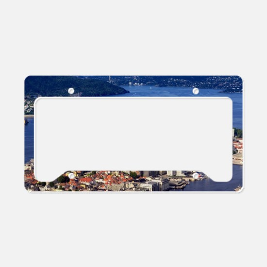 Norway, View of Bergen from M License Plate Holder