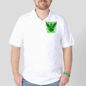 Kidney Cancer Eagle Golf Shirt
