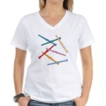 Colorful Clarinets Women's V-Neck T-Shirt