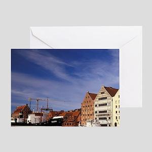Stara Motlawa Rivererania, Gdansk Ce Greeting Card