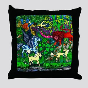 Encounters in the Rainforest Throw Pillow