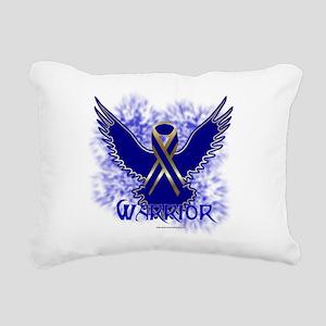 Colon Cancer Eagle Rectangular Canvas Pillow
