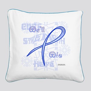 Colon Cancer Hope Square Canvas Pillow
